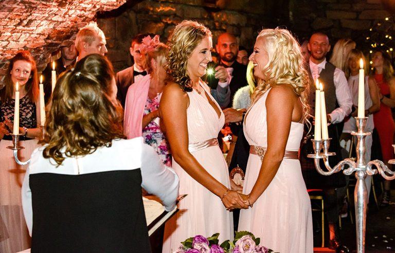 female couple wedding ceremony